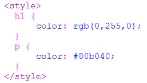 Uso di color